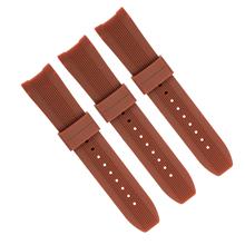 635竖条纹啡色高档加头粒运动款手表带。