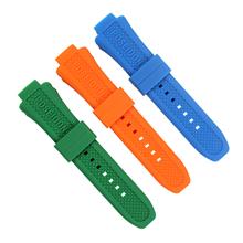 663/664加头粒硅胶表带弯头硅胶手表带,订制手表带厂家。