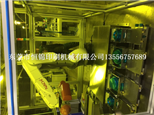Robot automatic loading and unloading pad printing machine multi-automatic face printing pad printin