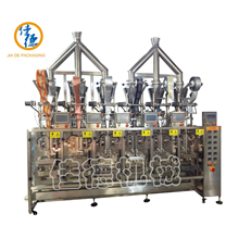 6 lanes stick/3-side seals sachet packing machine