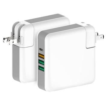 61W MACBOOK PRO PD多口充电器QC3.0快速Type-C笔记本适配器USB-C