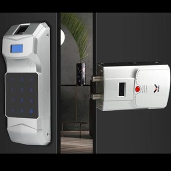 HF-011B全自动无线指纹密码隐形遥控锁免布线免打孔