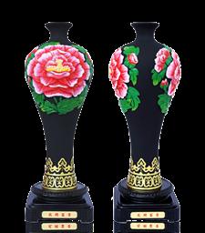 手雕花瓶立體擺件-美人瓶1362