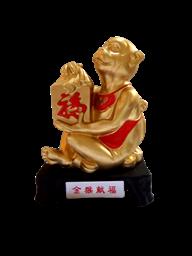 立雕金猴献福1362