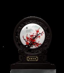 鏤空藝術盤-梅蘭竹菊1362