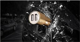 雙USB車充安全錘1130