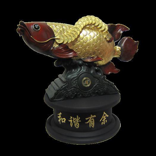立雕擺件-和諧有魚-大1362