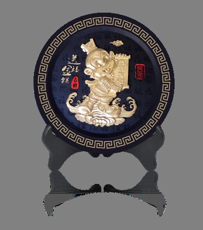 圓盤擺件-金猴獻福1362