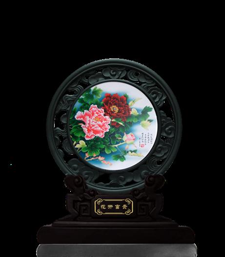 鏤空藝術盤-花開富貴1362