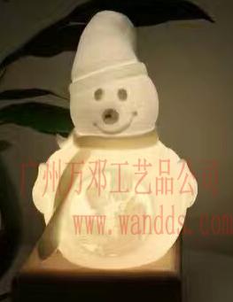 3D打印燈飾雪人公仔