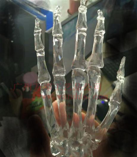 3D打印手透明光敏樹脂
