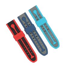 711-24MM新款硅胶双色手表带亚马逊速卖通热卖产品。