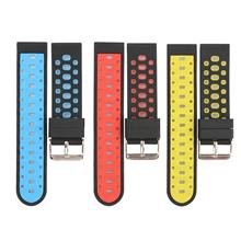 714-22MM欢迎订做高档双色硅胶表带供应注塑智能双色手表带。
