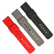 095平头硅胶表带 活动生耳各种规格表带 颜色定制厂家生产直销表带厂