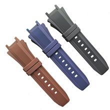 629弯头硅胶表带 厂家直销钟表手表配件硅胶表带22mm表带