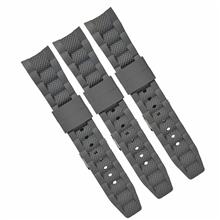 610-22MM弯头硅胶表带 环保硅胶表带 运动手表胶头粒表带