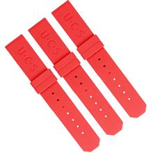 615钟表配件厂家 高档时尚手表16MM平头方尾彩色硅胶表带