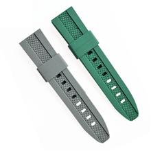 525-22mm钻石纹高拉力硅胶手表带适配各种手表,欢迎来人来电定制。