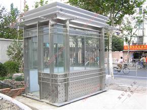 XJ-B49福建304不锈钢岗亭,移动式不锈钢保安亭