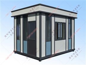 XJ-G19钢结构大理石岗亭,艺术高档钢结构岗亭