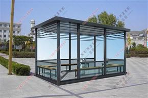 XJ-X13福建工厂移动吸烟亭,钢结构玻璃吸烟室