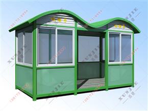 XJ-X12福建钢结构玻璃吸烟亭,福建工厂户外吸烟房