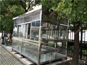 XJ-X07漳州吸烟亭制造,漳州工厂室内吸烟室