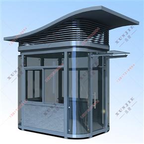 XJ-G44福建钢结构岗亭直销,钢结构保安门卫值班岗亭,泉州钢结构岗亭