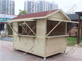 XJ-M12厦门小区木质保安亭,厦门木岗亭生产厂家
