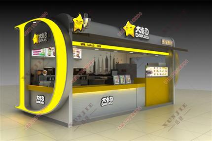 XJ-S22D字型售货亭,广场奶茶售货亭