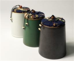 和樂融融柱型茶葉罐-1002