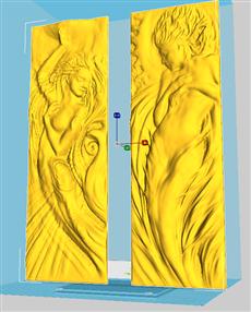 歐式人物浮雕3D打印(立體建模)