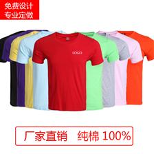 短袖圆领团体服企业polo广告衫 定制logo纯棉文化衫工作服t恤印