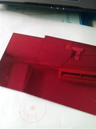 批发供应:红色镜子玻璃 红色玻璃