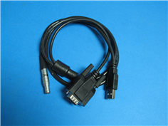 0B9芯插頭轉接DB9+USB