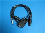 0B9芯插头转接DB9+USB