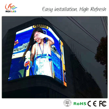 P10mm curved led display