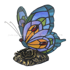 TLC00121 Blue Butterfly Tiffany Table Lamp