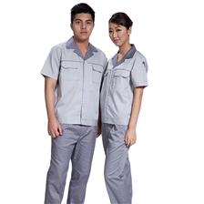 夏季短袖工作服套装男女工地工程汽修厂服电焊工装制服劳保服工衣