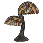 9 Inch two light tiffany table lamp