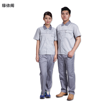 夏季短袖工作服套裝男半袖汽修服工廠車間勞保工裝工程服批發定做