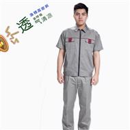 夏季工作服套装男女短袖薄款定制耐磨工厂车间工人汽修上衣劳保服