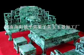 玉石沙发精工雕刻大型玉石摆件沙发茶几套装