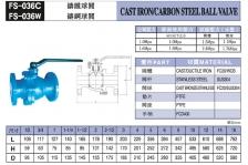 FS-036C臺灣富山鑄鐵球閥/FS-036W鑄鋼球閥台湾富山FS阀门