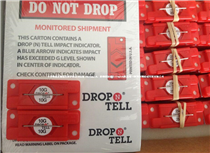 10G防震动标贴DropTell