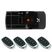 WAFU Keyless Electronic Remote Door Lock, Security Door Lock for Home, Anti-theft Door Lock + 4 Keys
