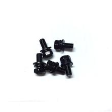 外六角凹槽黑锌组合螺丝5*12  螺丝厂家 不锈钢螺丝 东莞螺丝厂家