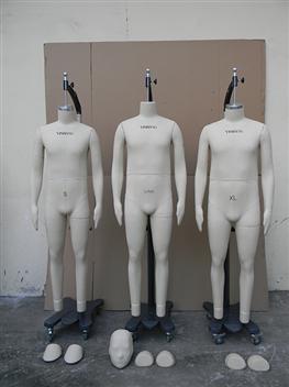 男装立裁模特4