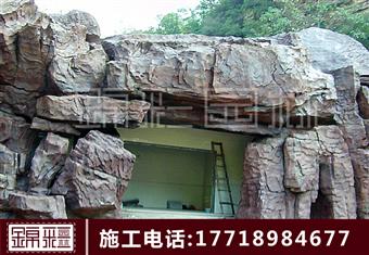 塑石假山 假山施工塑石假山施工隊水泥假山制作卡通雕塑景觀大門