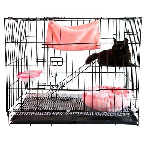 石家庄猫折叠笼子狗笼子猫笼子铁丝笼子厂家批发价格多少钱图片
